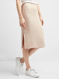 Softspun midi skirt