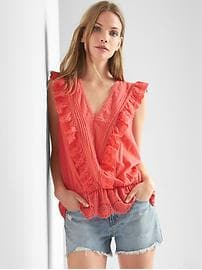 Flutter-sleeve peplum top