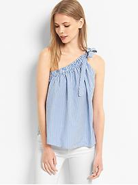 Stripe one-shoulder top