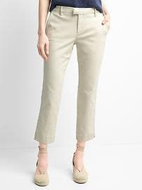 Slim crop chinos
