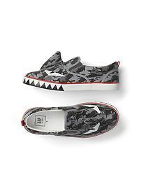 Shark face slip-on sneakers