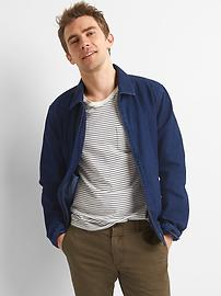 Veste Harrington indigo