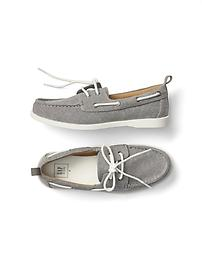 Twill boat shoes