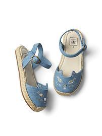 Cat espadrille sandals