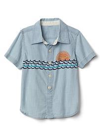 Sun surf chambray shirt