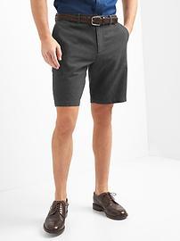 """Classic linen-cotton shorts (10"""")"""