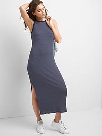 Rib-knit racerback maxi dress