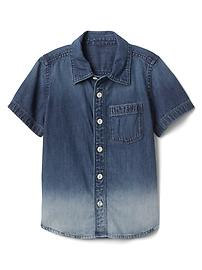 Dip-dye denim shirt