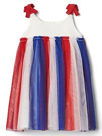 Americana tulle bow dress