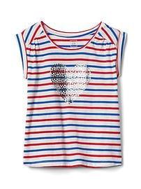 T-shirt froncé à manches courtes Americana