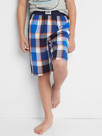 Short de pyjama à carreaux