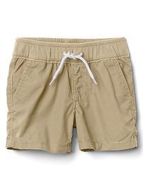 Poplin pull-on shorts