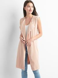 TENCEL&#153 belted trench vest