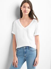 T-shirt à poche col enV