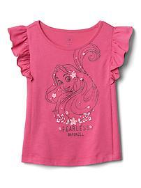 babyGap &#124 Disney Baby Princess glitter flutter tee