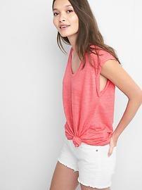 T-shirt sans manches en lin