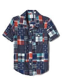 Patchwork pocket shirt