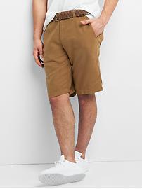 Short en lin et en coton teint en pièce (30cm)