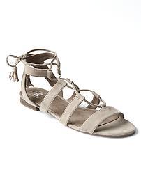 Sandales spartiates en suède