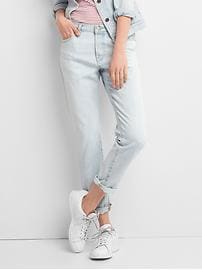 Mid rise relaxed boyfriend jeans