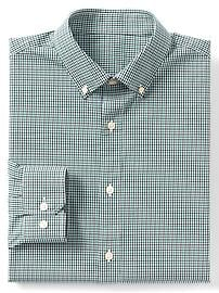 Stretch poplin tattersall standard fit shirt