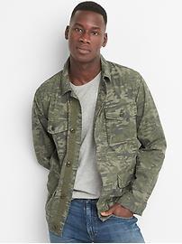 Camo fatigue jacket