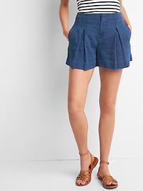Cotton-linen sailor shorts