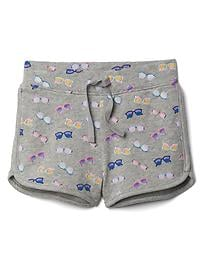 Print terry dolphin shorts