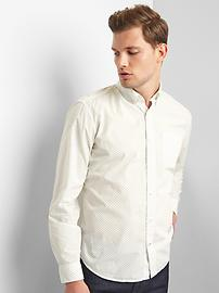 True wash poplin dot standard fit shirt