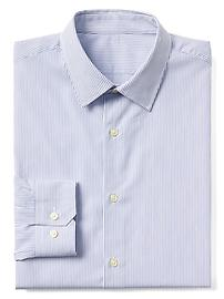 Supima cotton stripe standard fit shirt