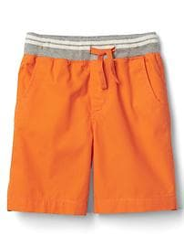 Ripstop pull-on shorts
