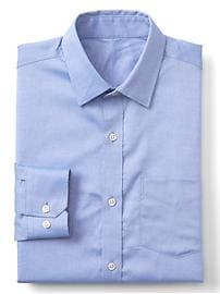 Wrinkle-resistant chambray standard fit shirt