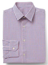 Stretch Poplin mini tattersall slim fit shirt