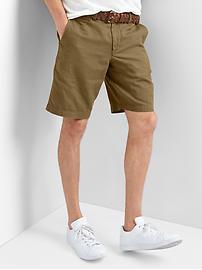 "Garment-dyed linen-cotton shorts (10"")"