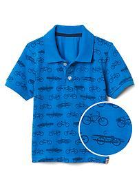 Print short sleeve polo