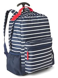 Stripe roller backpack