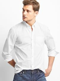 True wash poplin slim fit shirt