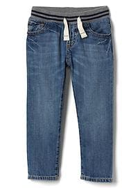 Pull-On Straight Jeans