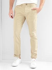 Vintage Wash Khakis in Skinny Fit with GapFlex