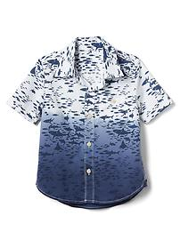 Shark poplin short sleeve shirt