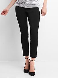 Maternity Bi-stretch inset panel skinny ankle pants