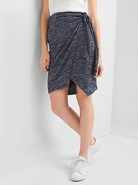 Softspun wrap knot skirt