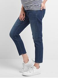Maternity demi panel true skinny crop jeans