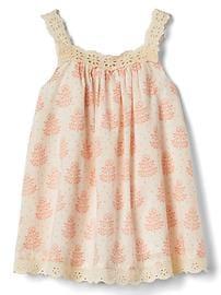 Leafy lace-trim dress