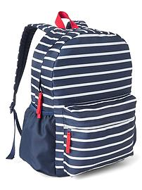 Stripe senior backpack