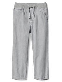 Railroad stripe pull-on pants