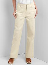 High waist boyfriend utility chinos