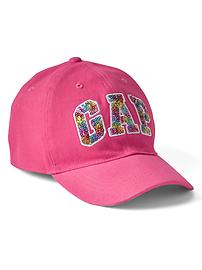 Sequin logo baseball hat