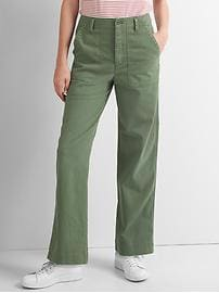 High rise boyfriend utility chinos