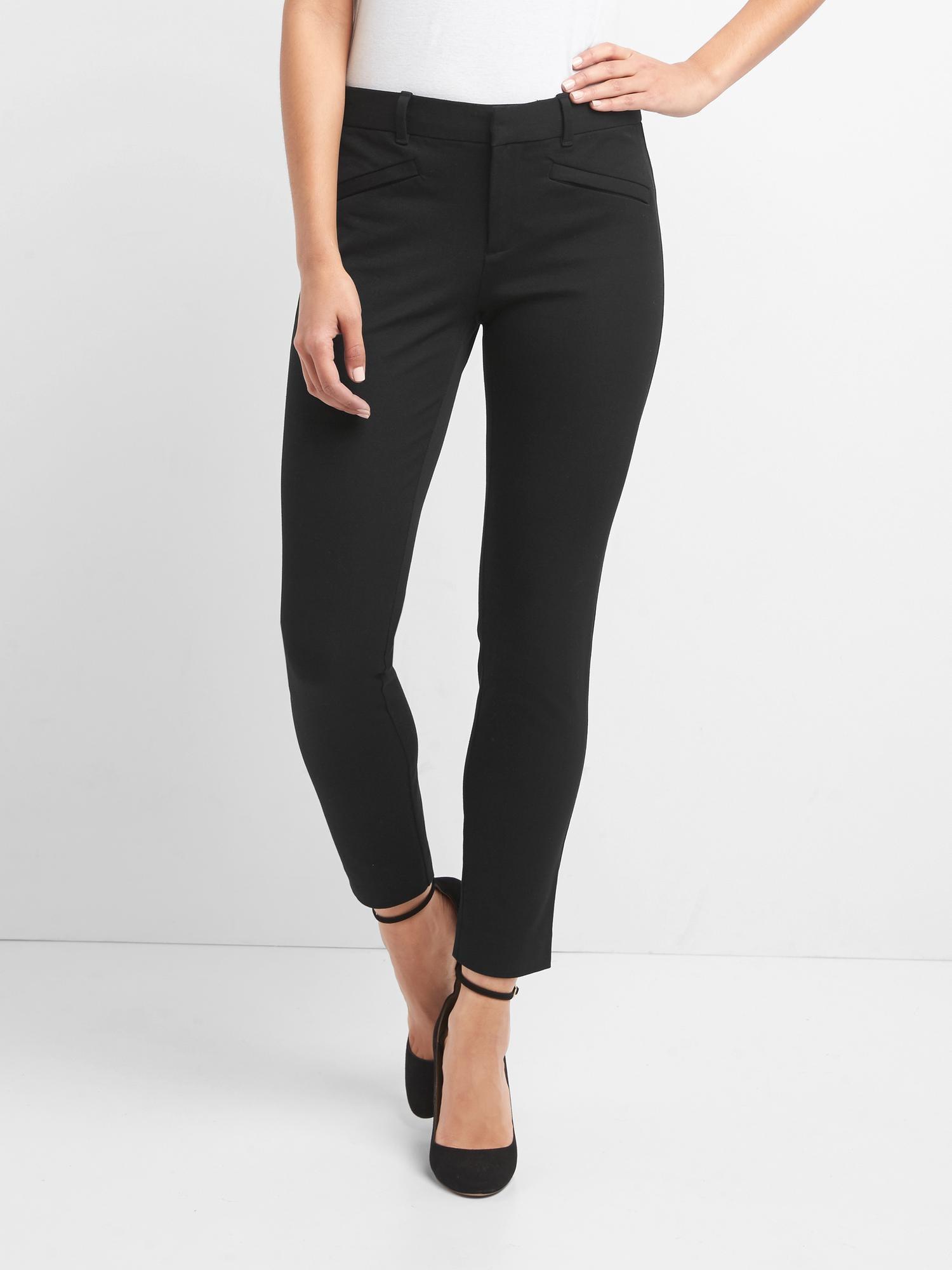 Gap Black Signature Skinny Ankle Pants with Secret Smoothing Pockets 4 Petite
